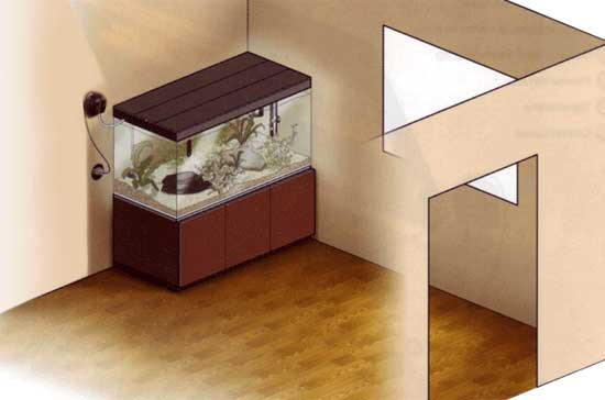 место для установки аквариума