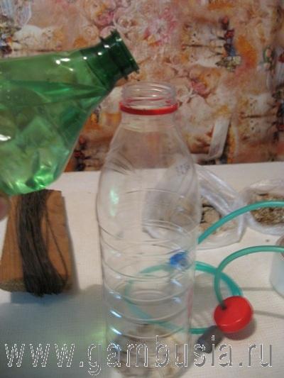 Генератор со2 для аквариума своими руками из одной бутылки 77